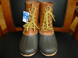 Men's Clarks Crewson Leather Duck Boots Brown Size 7
