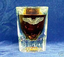 USAF etched Aviator wings shot glass