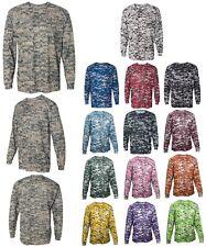 Men'S Performance Digital Digi Camo, Camouflage, Long Sleeve T-Shirt Crew Xs-4Xl