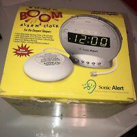 Sonic Alert SBT425SS Sonic Bomb Alarm Clock with Telephone Signaler & vibrator