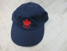 Canada Navy Blue Baseball Hat Strapback Adjustable Back Maple Leaf Vtg