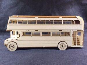 Laser Cut Wooden Routemaster Double Deck Bus 3D Model/Puzzle Kit