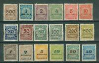 Deutsches Reich 313 - 330 , ** , *  , o ,