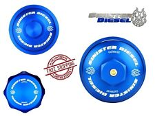Sinister Diesel Billet Blue Cap Kit for 03-07 Ford Super Duty 6.0 Powerstroke
