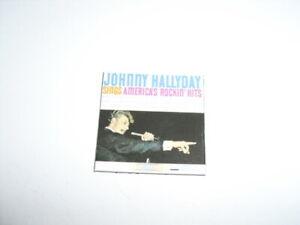 "JOHNNY HALLYDAY Magnet Aimant Album ""Sings America's Rockin'Hits 1962""."
