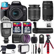 Canon EOS 800D T7i + 18-55mm IS STM + 75-300mm III + LED Kit + Flash + 48GB