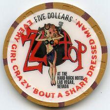Hard Rock Hotel/Casino -Las Vegas -$5 Chip - 1996 -ZZ Top