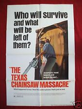THE TEXAS CHAINSAW MASSACRE * 1974 ORIGINAL MOVIE POSTER 1SH BRYANSTON HALLOWEEN