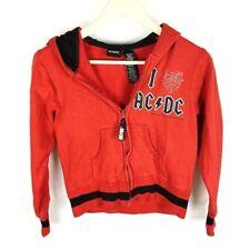 AC/DC Rockware (Q1-25) Youth XL Red Hoodie Jacket Zip Up