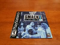 WWF Smackdown PS1 Black Label Manual Only (Sony Playstation) & Registration Card