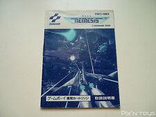 NINTENDO GAME BOY / Notice, Instruction Nemesis [ DMG-NMA ]