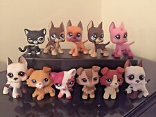2x Littlest Pet Shop LPS Collies #2452 Great Dane#577 Dog & Cats FREE SHIPPING