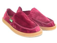 4749ecfc584 NEW WOMENS SIZE 7 SANUK DONNA VELVET RUMBA RED SIDEWALK SURFERS LOAFERS  SHOES