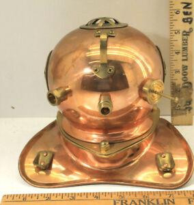 """7"""" Salesman Sample Desk Model Dive Diver Helmet Desk Top Museum Quality Vintage"""