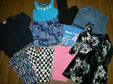 Lot of Girl's Clothing size 6-7: Leggings, Dresses, Tops, 9 Items Total