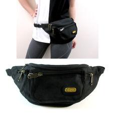 1 X Black Waist Fanny Pack Belt Bag Pouch Travel Case Sport Hip Purse Men Women