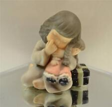 Kim Anderson PAAP FIGURINE Girl Hugging Doll w/Gift 535583 in BOX FREEusaSHIP