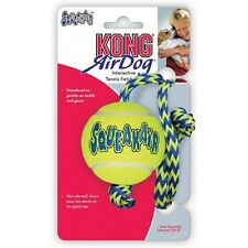 3 x Medium Kong Airdog Squeakair Tennis Ball on a Rope Squeaky Dog Toy bulk Save