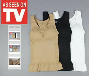 Cami Shaper As Seen On TV With Removable Pads + Free Extra Set Of Pads L To XL