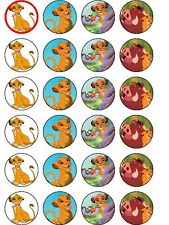 24 x lion king birthday party decorations cake rice paper