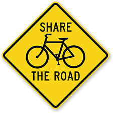 "Share The Road Safety Sticker Decal 5"" x 5"" Cycling Bicycle Trek Mountain Bike"