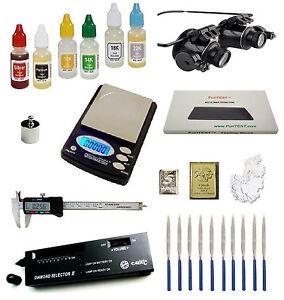 Gold Silver Test Kit Electronic Diamond Tester Troy Ounce Digital Scale Caliper