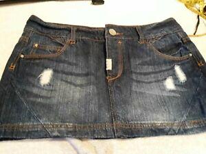 Blue Short Denim Skirt.  Size 12. Pull & Bear