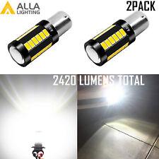 Alla Lighting 33-LED 1156 White Backup Reverse Light Bulb|Center Brake|Blinker
