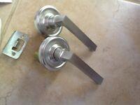 Antique Brass Interior Weslock Imp 600 Door Knob Lock Passage Vintage//Retro AB