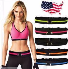 Gym Fitness Sport Runner Waist Bum Bag Running Jogging Belt Pouch Zip Fanny Pack