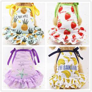 Lot 4 Girl Dog Shirt Puppy Dress Cute Clothes for Yorkie Shih Tzu Maltese Cat