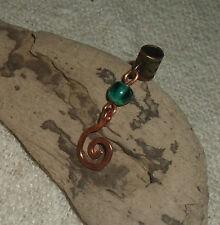 Uno Dreadlock Bead Cobre Espiral temible joyas joyería del pelo cuelgan Puño encanto