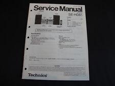 Original Service Manual Technics SE-HD81
