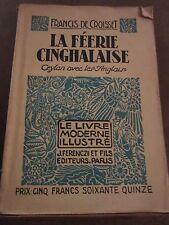Francis de Croisset: La Féerie cinghalaise/ Le Livre Moderne Illustré Ferenczi