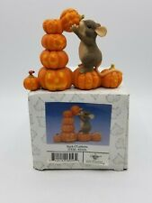 Charming Tails - Stack O'Lanterns 85/416 Mouse Halloween - New