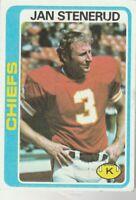 FREE SHIPPING-NRMINT TO VG-1978 Topps #238 Jan Stenerud Kansas City Chiefs