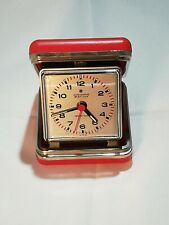 Orologio sveglia da viaggio Junghans Star-Vox vintage anni 50 custodia oclock