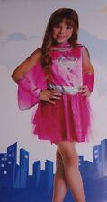 Toddler Girls Supergirl Super Girl Pink Halloween Costume Superman Dress 2T NEW