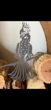 Cockatoo on a branch Corten Steel Metal Garden Bird