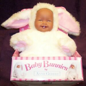 Baby Bunnies By Anne Geddes 15 Inch Brown Doll New in Box 1997 SMILING VINTAGE