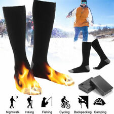 Pair Electric Battery Heated Socks Feet Warmer Heater Ice Fishing Foot Shoe Boot