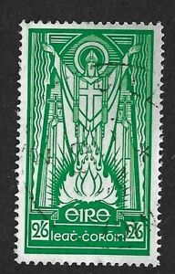 EIRE (IRELAND) 1943 - 2/6d Green - ST. PATRICK - SG123 - Fine used (#2)