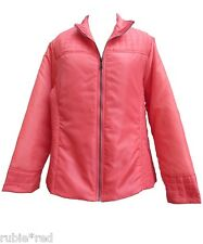 MARISOTA Deep Coral Quilted Jacket SIZE 24