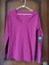 Eddie Bauer Women's Cotton Work Out  Hoody Sweat Shirt Pink  SZ  XSM NWT