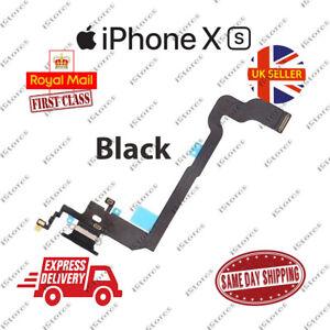 New iPhone XS Charging Port Flex Headphone Jack Mic Replacement Black
