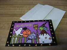 Gibson Greetings Halloween Party Invitations, Ghost/Bat/Pumpkin/Cat/Wit ch (10)