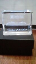 Freedom Of The Seas Crystal Glass Paperweight Royal Caribbean