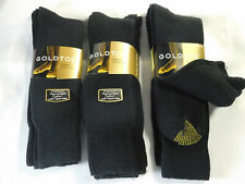 Gold Toe Mens Socks Lot of 9 New Black Pair Crew Socks