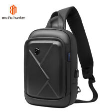 Men's Leather Backpack waterproof shoulder bag Crossbody sling bag bag for iPad