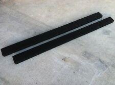 (2) BLACK - 9' Boat Trailer Bunk Boards 2 x 4 - 12 oz Carpet - Marine
